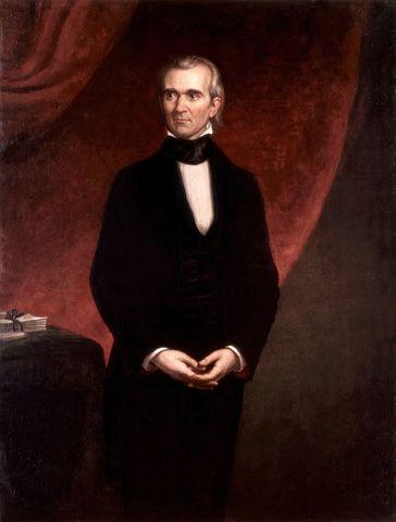 James Polk elected president.