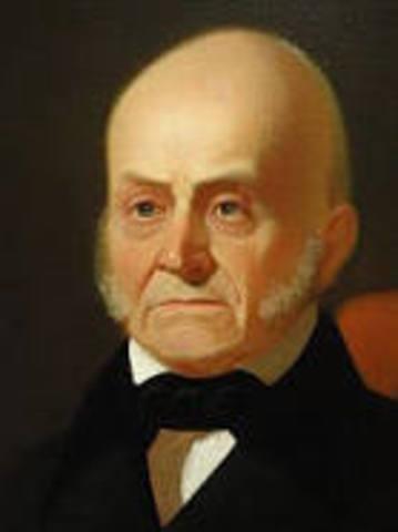 John Quincy Adams elected president(Corrupt Bargain)