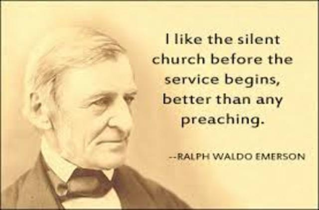 "Ralph Waldo Emerson gave the ""Divinity School Address"""