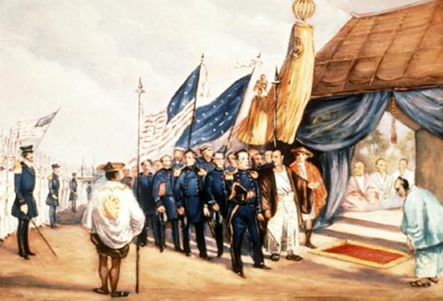 Commodore Matthew Perry Entered Tokyo Harbor Opening Japan to the U.S.