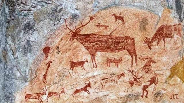 Aparece la escritura por medio de dibujos o símbolos en las paredes de las cuevas.