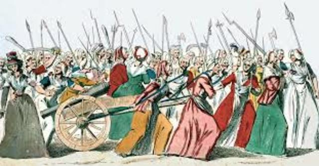 French Women force Lois XVI to leave Versailles