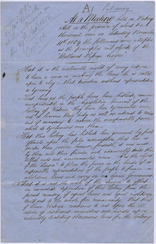 Ballarat Reform League formed