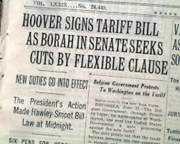 •Smoot-Hawley Tariff