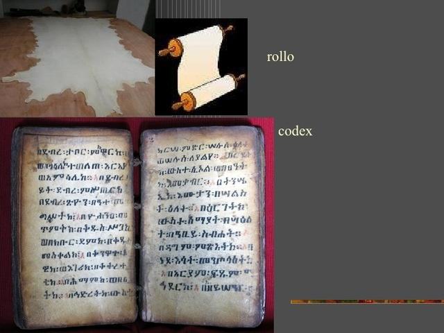 En Roma el libro desplaza al rollo.