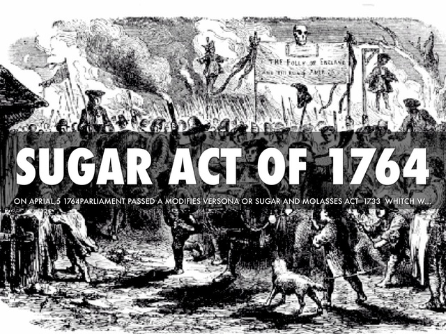 Image result for The Sugar Act