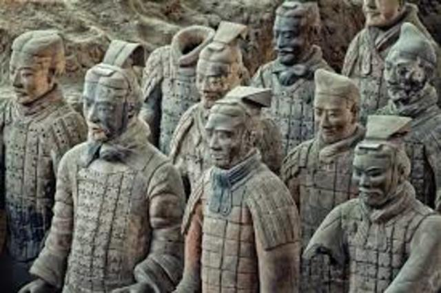 Terra Cotta Army is buried with Emperor Qin