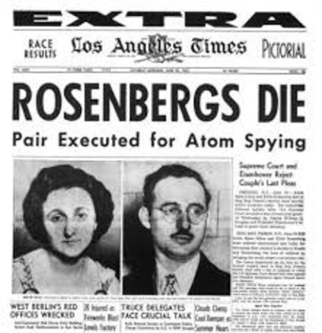 •	Ethel and Julius Rosenberg Execution