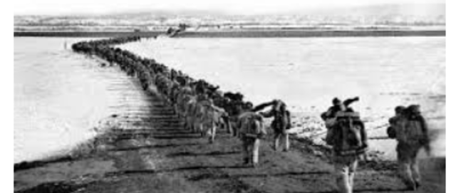 Chinese forces cross Yalu and entered Korean war