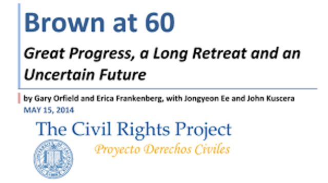 The Civil Rights Project, Brown at 60: Great Progress, a Long Retreat and an Uncertain Future.