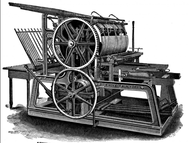 Gutenberg modifica la imprenta