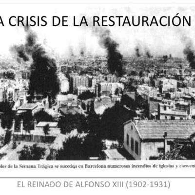 Crisis de la Restauración desde 1898 a 1923 timeline