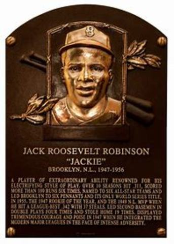 Jackie Robinson Inducted into Hall of Fame.