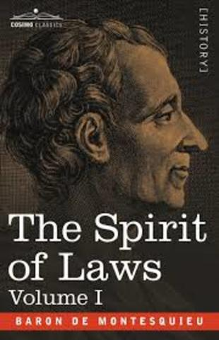 Montesquieu publishes the Spirit of Laws