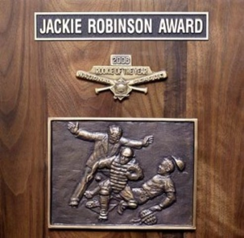The Rookie of the Year award was renamed to Jackie Robinson award