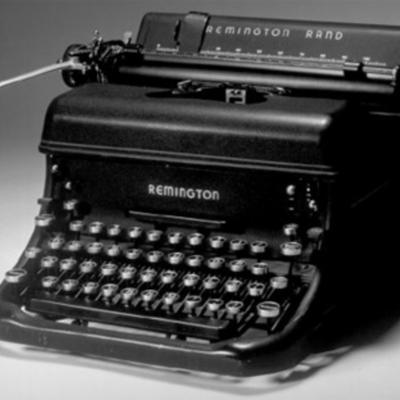 Historia de la máquina de escribir. timeline