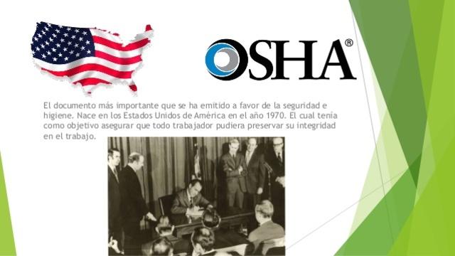 La Ley de Seguridad e Higiene Ocupacional en EEUU