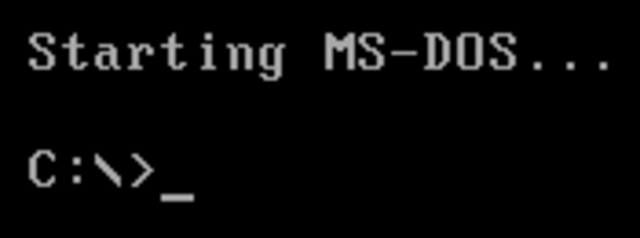 MS-DOS 6.0.
