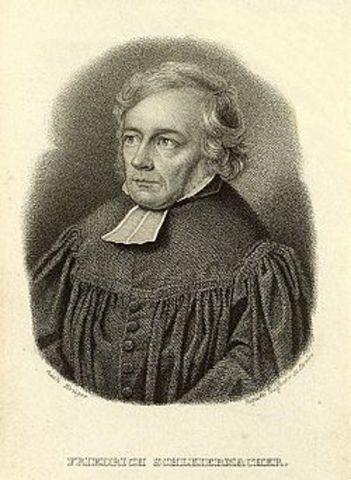 Friedrich Daniel Ernst Schleiermacher 1768 a 1834
