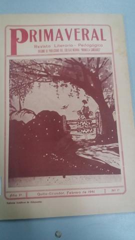 Revista Literaria y pedagógica Primavera