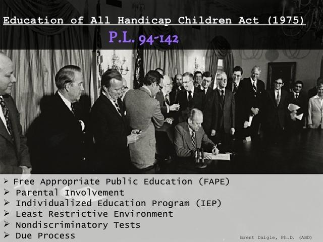 education for all handicapped children