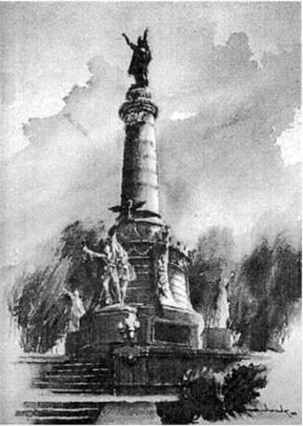 Primera piedra del monumento a Benito Juárez