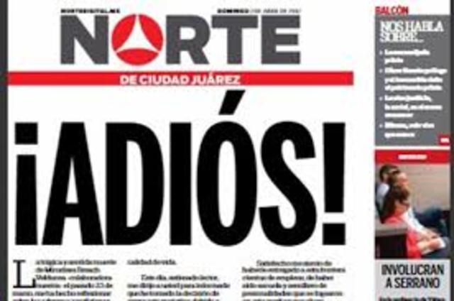periódico el norte cierra por inseguridad hacia sus periodistas
