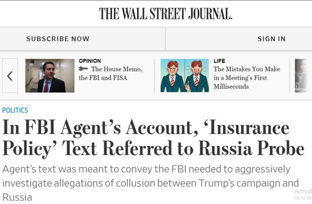 Insurance Policy FISA - Strzok McCabe