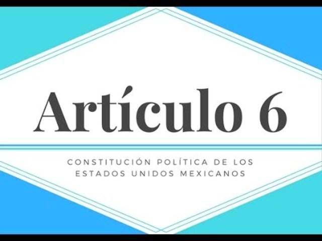 Adición de un segundo párrafo al artículo 6° Constitucional que asegura que la información está a cargo del Estado.