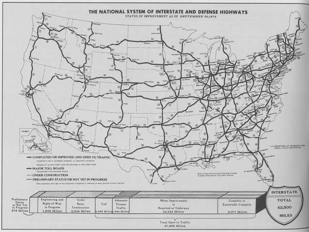 •	Interstate Highway Act (1956)