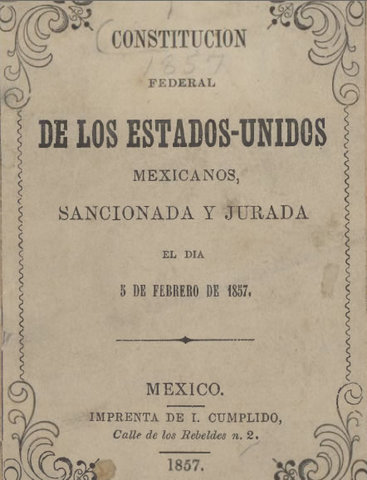Constitución Federal de 1857.