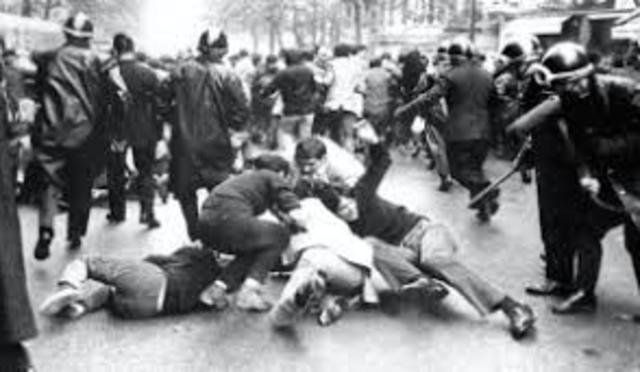 Represión estudiantil