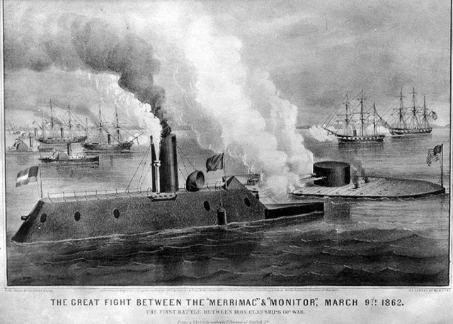 The Battle of Monitor and Merrimac