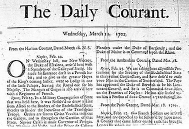 Daily Courrant, inglaterra