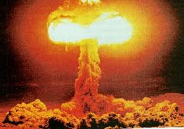The US drops the atomic bomb.