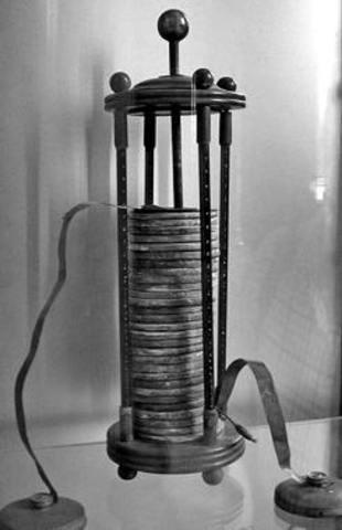 La primera pila eléctrica