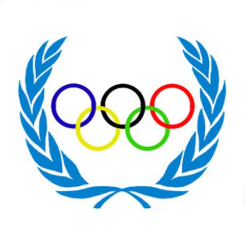 Начало записи имён победителей Олимпийский игр