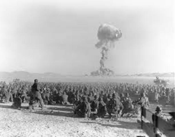 First atomic bomb tested