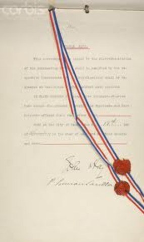 a history of the hay pauncefote treaty agreement between great britain and the united states Britain, the other power chiefly interested in the caribbean, recognized the changed situation and, in the hay-pauncefote treaty of 1901, gave the united states a free hand from this agreement followed the building of the panama canal (opened in 1914) under the sole ownership and control of the united states.