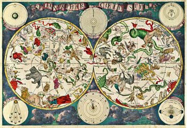 Se dibuja la primera carta astronómica por el holandés Frederik de Wirt