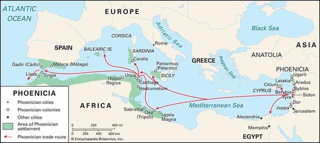 Viajes de los fenicios
