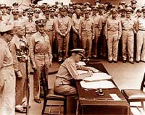 formal surrender of Japan