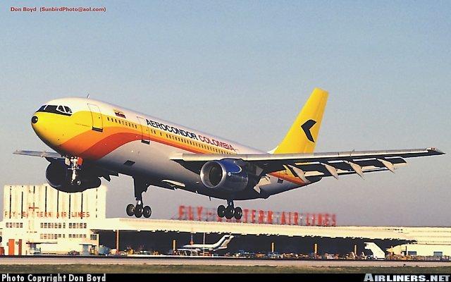 Primer avion Airbus en Colombia.