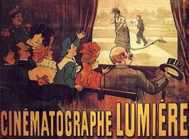 el nacimiento del cine en Francia con los hermanos Lumiére