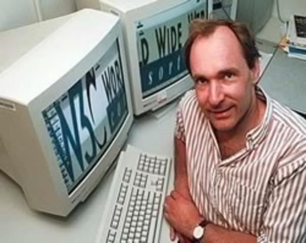 nacimiento del internet, la World Wide Web, creada por Tim Barners Lee