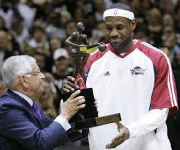 HE RECIVED NBA'S MVP AWARD