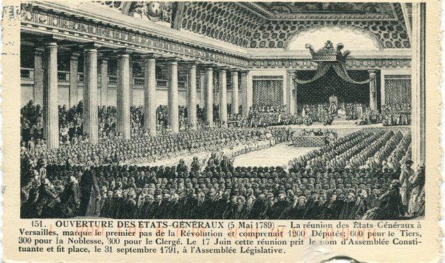 Luis XVI convocó a una reunión de los Estados Generales para formular un nuevo plan fiscal.