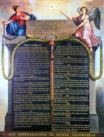 Declaración de los derechos del Hombre y el Ciudadano.