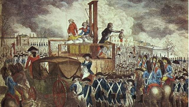 Ejecucion de Luis XVI.