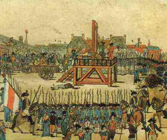 Ejecucion de Robespierre.